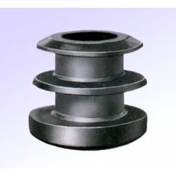 Embouts ronds plastiques noirs