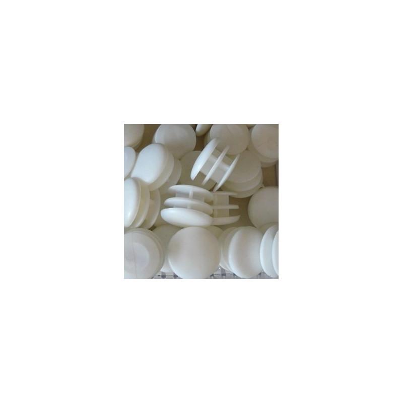 Embouts ronds plastiques blancs