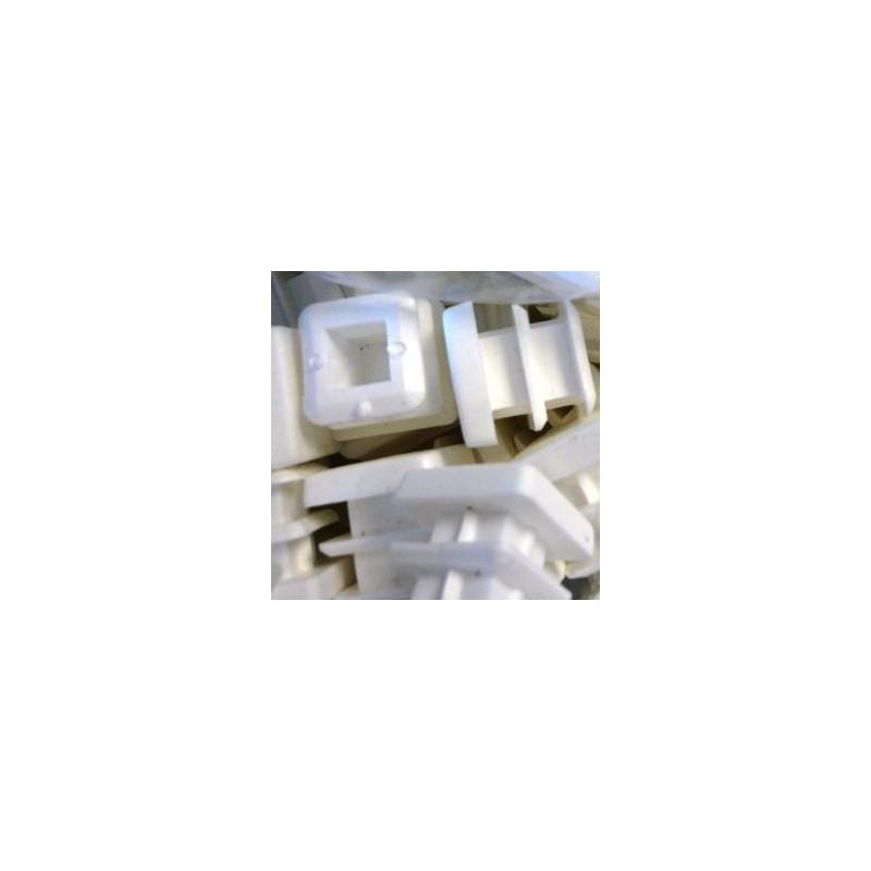 Embouts rectangulaires plastiques blancs