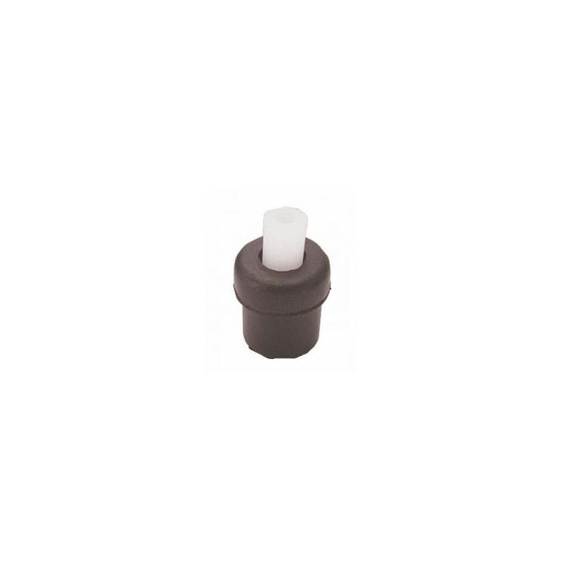 Embouts ronds noirs avec cheville pour tube