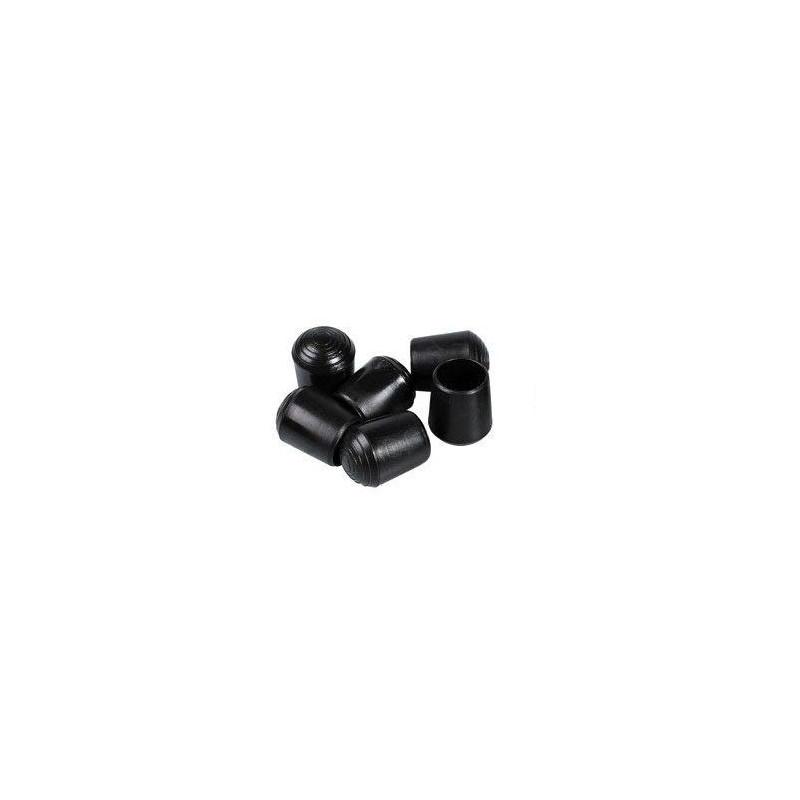 Embouts ronds emboitant plastiques noirs