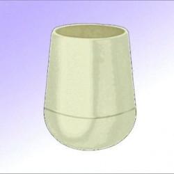 Embouts ronds emboitant plastiques Blanc