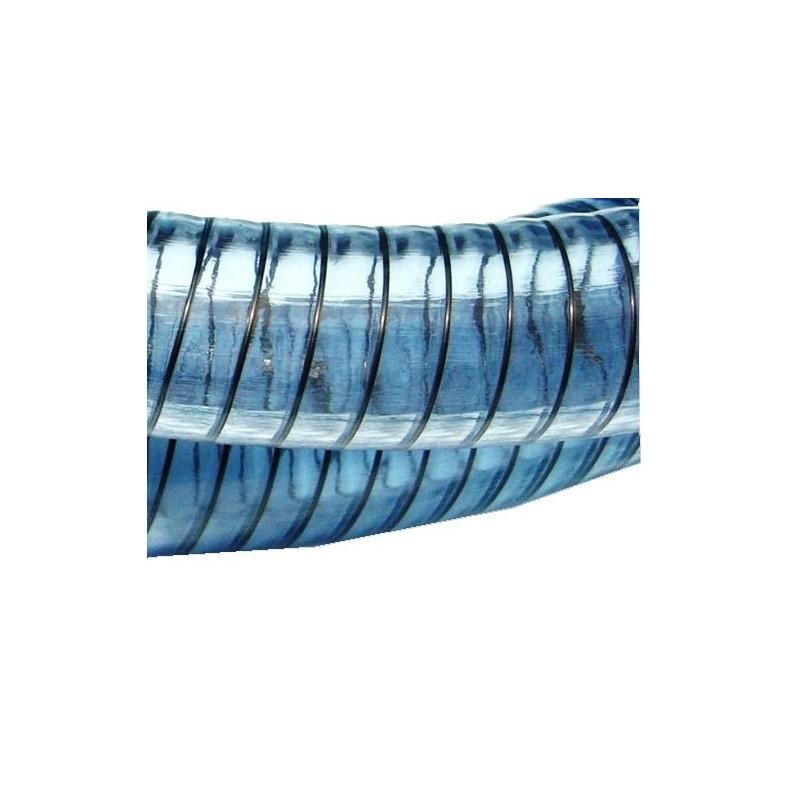 Tuyau PVC à spire acier