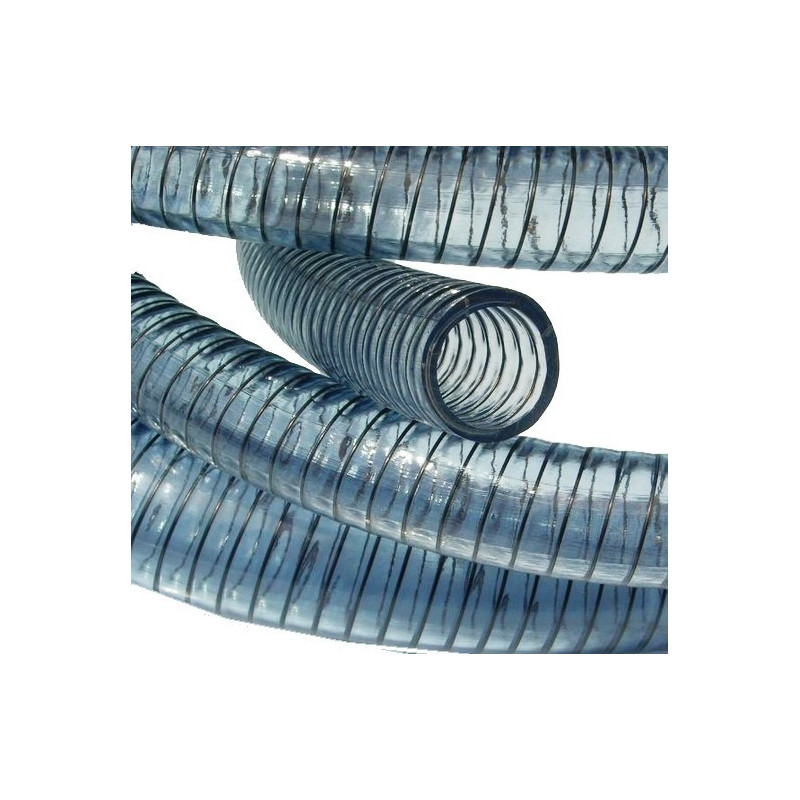 Tuyau vidange PVC à spire acier