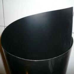 Feuille PEHD 1000 noir tranchée