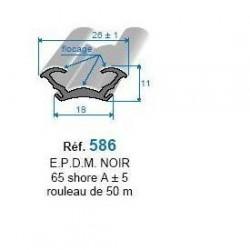 Coulisse floquée 586
