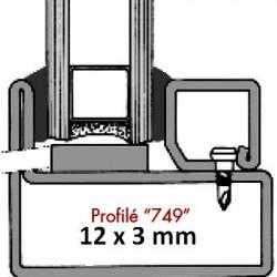 Joint vitrage à sec 749 (12x3 mm)