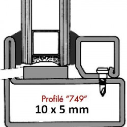 Joint vitrage à sec 749 (10x6 mm)