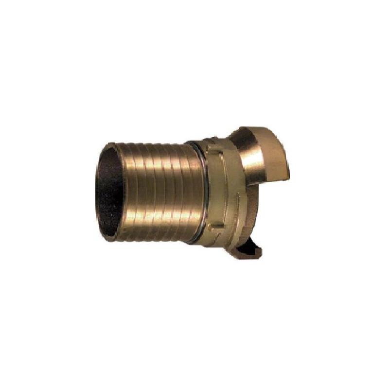 Raccord 1/2 sym. douille annelée avec verrou, bronze