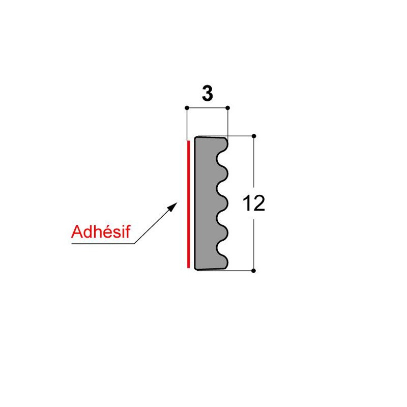 Joint vitrage à sec JDV 12x3