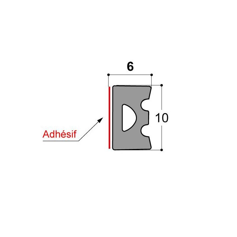 Joint vitrage à sec JDV 10x6