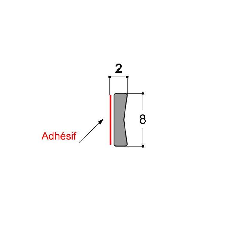 Joint vitrage à sec JDV 8x2