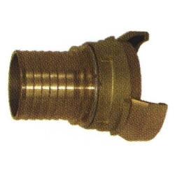 Raccord 1/2 sym. douille annelée réduite avec verrou, bronze