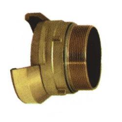 Embout 1/2 sym. filetée mâle avec verrou bronze