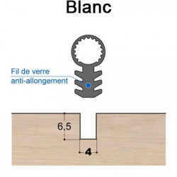 Joint tubulaire queue de sapin TS FV blanc