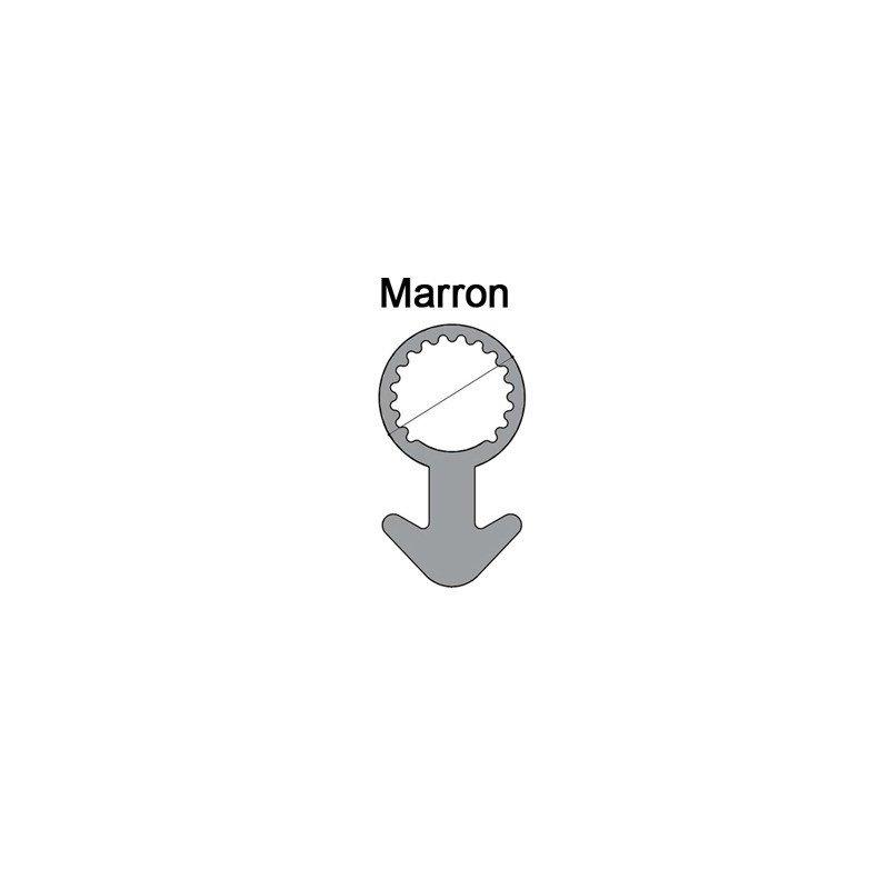 Joint tubulaire queue d'ancre NM marron