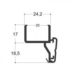 Profilé pour doubles-vitrages 20 mm