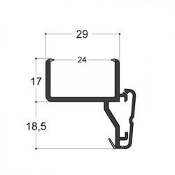 Profilé pour doubles-vitrages 24 mm