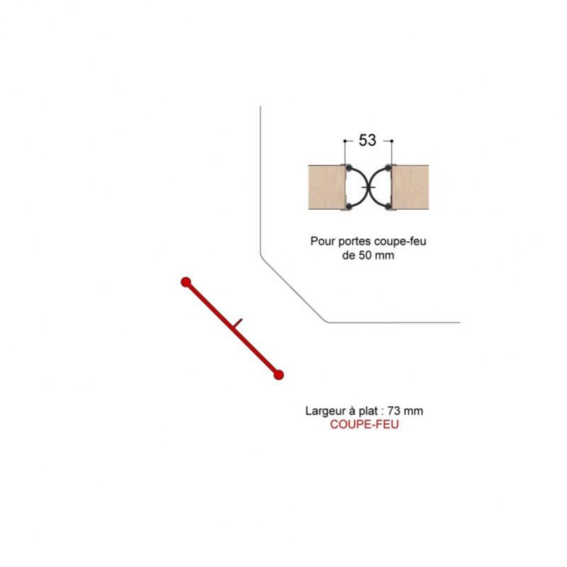 joint anti pince doigts coupe feu cot serrure porte 50. Black Bedroom Furniture Sets. Home Design Ideas