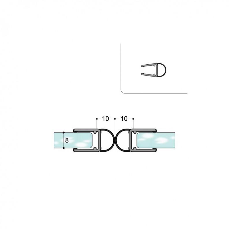Profilé porte de douche V30