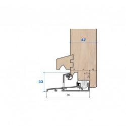 Seuil nez incliné H 33, porte 47 mm