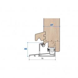 Seuil nez incliné H 40, porte 47 mm
