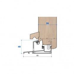 Seuil nez incliné H 40, porte 56 mm