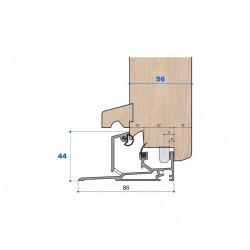 Seuil nez incliné H 44, porte 56 mm
