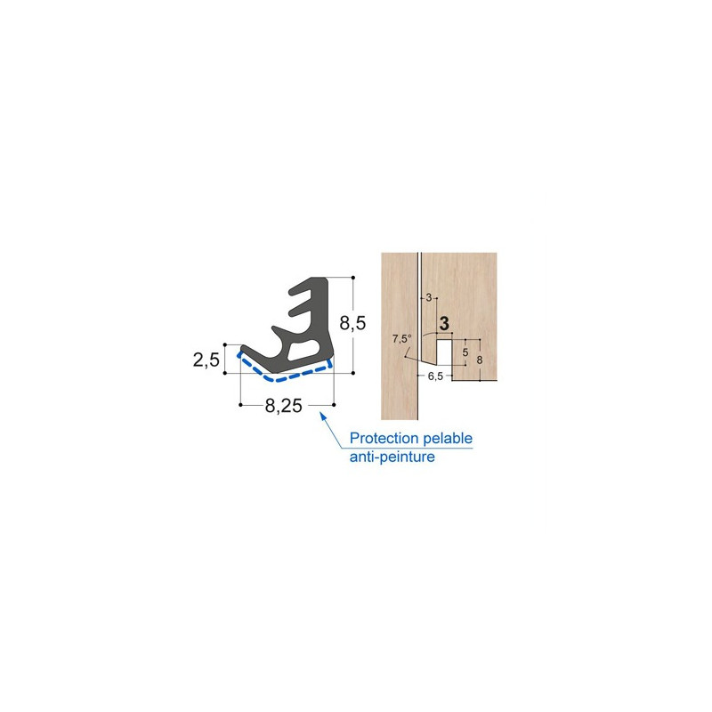 Joint d'ouvrant tri-matière OC5 PR