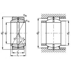 Rotule radiale acier/acier C1-10 sans étanchéité avec entretien