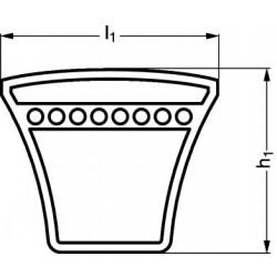 Courroie trapézoïdale GATES ou OPTIBELT TYPE SPA.