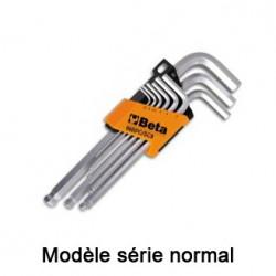Jeu clés mâle 6 pans BETA coudée tête sphérique coudée 90° série longue normale et 110°