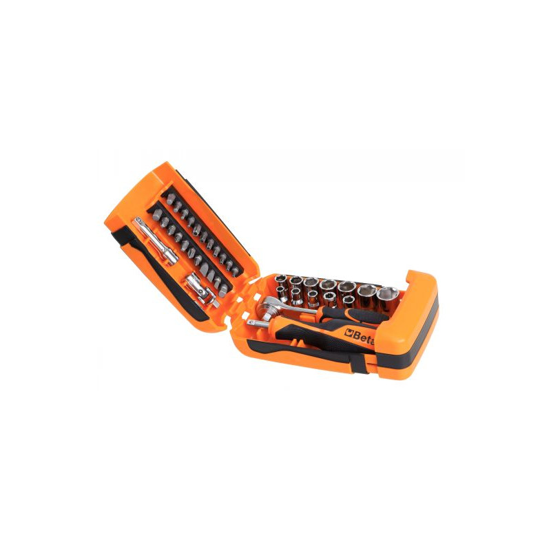 Coffret BETA T22-900/C39 composé de 11 douilles 6 pans 21 embouts pour visseuses et 7 accessoires