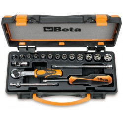 Coffret BETA T22-900/C13-5 composé de 13 douilles et 5 accessoires