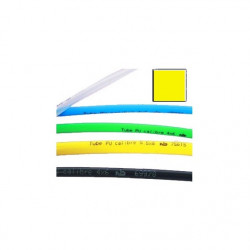 Tube polyuréthane calibré jaune, bobine de 25 m