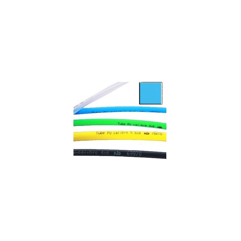 Tube polyuréthane calibré bleu, bobine de 25 m