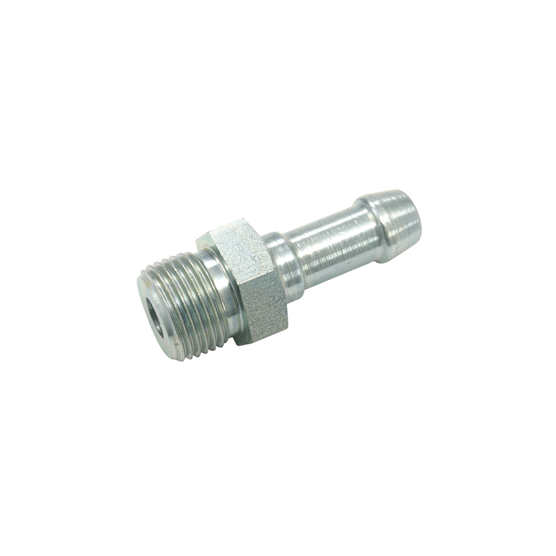 Jonction filetage cylindrique mâle acier traité une gorge