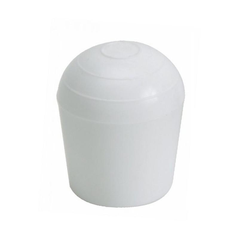 Embouts ronds emboîtant plastiques Blanc