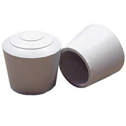 Embouts emboitant caoutchouc ronds blanc pour tube métal 100PCS