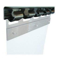 Rail 984/1230/1968 mm porte souple profil std inox
