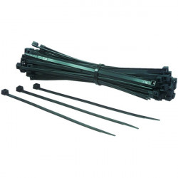 100 Colliers nylon PA 6.6 noir 140x2,5 mm