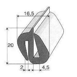 Profils caoutchouc 310