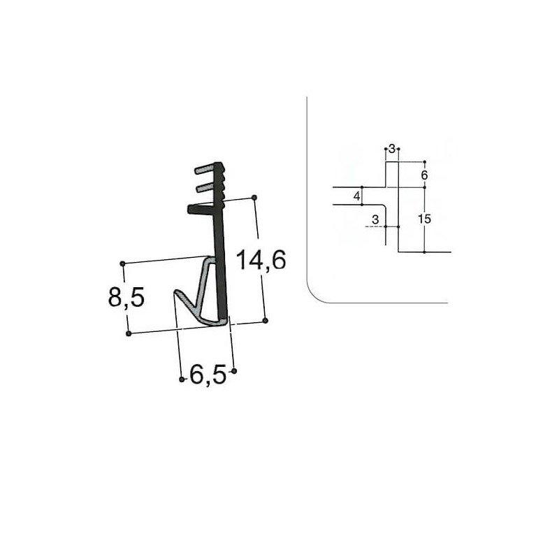 Joint isophonique multichambre F15 R3 J3