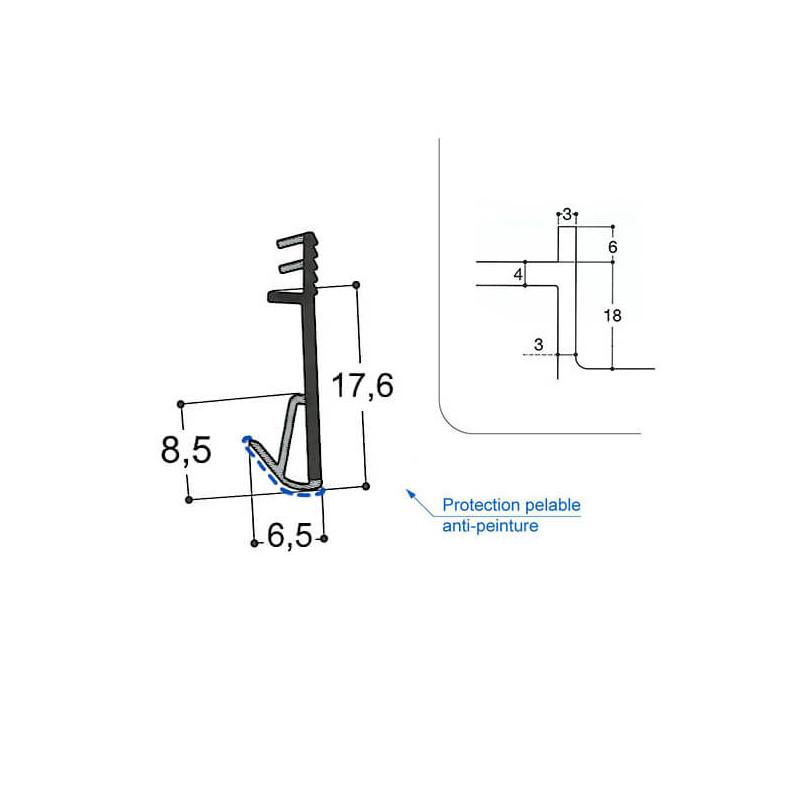 Joint isophonique multichambre F18 R3 J3 PR