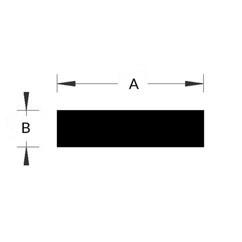 Corde rectangulaire EPDM 45 Sh Noire