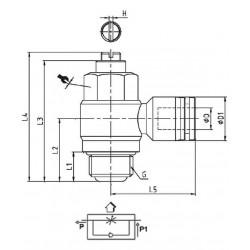 Régulateur de débit tournant cylindrique