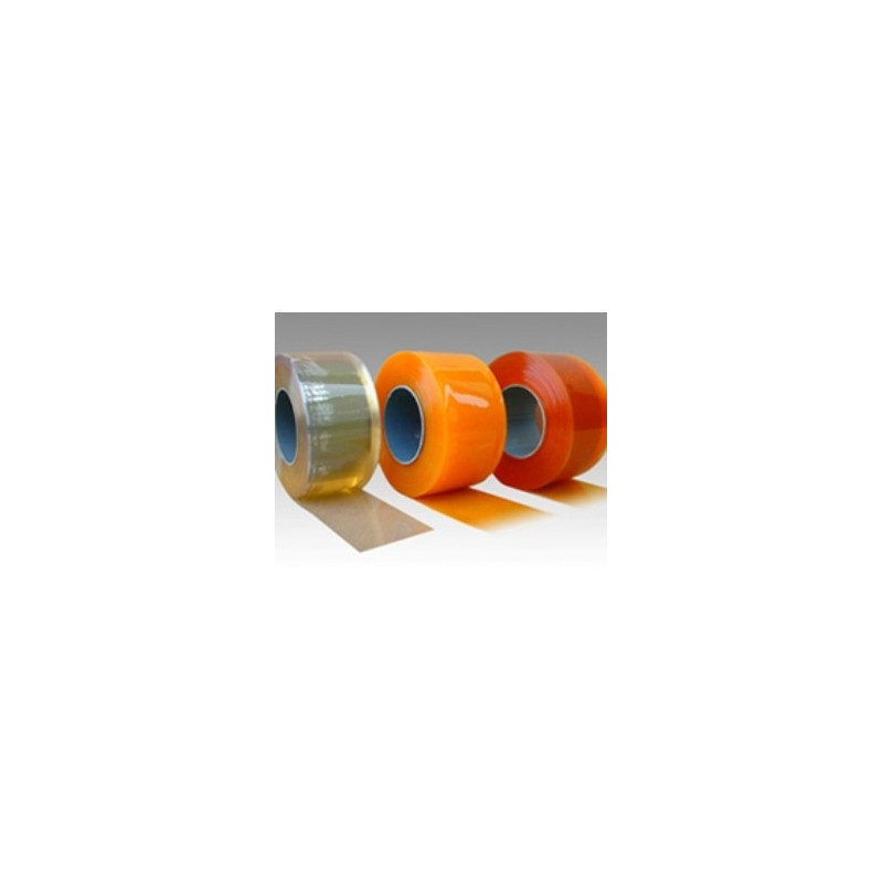 Lanière orange PVC porte souple standard