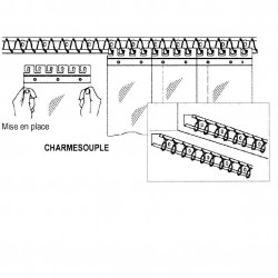 Rail Charmesouple porte à lanière