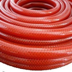 Tuyau Cristal PVC rouge  armé usage normal