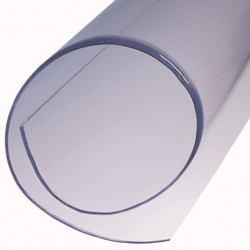 Feuille PVC translucide standard L 1500 mm